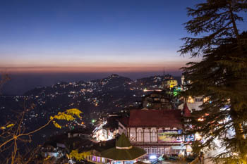 Shimla view from Mall Road